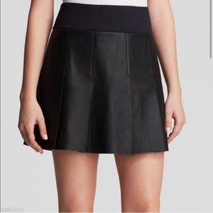 NWOT Vince Goat Leather Pleated Skirt